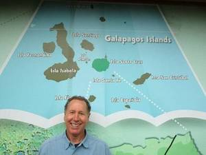 Larry Arriving in the Galapagos Islands